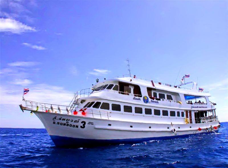 Корабль « South Siam 3» . Дайв-сафари на Симиланских островах. Дайв центр Phuket Diving Center.