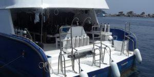 Корабль «Manta Queen». Дайв палуба